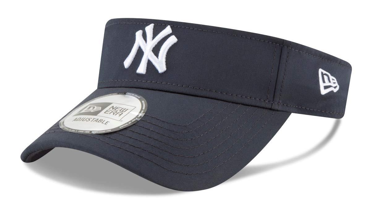 ニューヨークヤンキース 調節可能なサンバイザー フリーサイズ ほとんどの帽子にフィット ネイビー   B07MVM994P