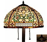 Tiffany Style Stained Glass Victorian Floor Lamp ''Concerto''
