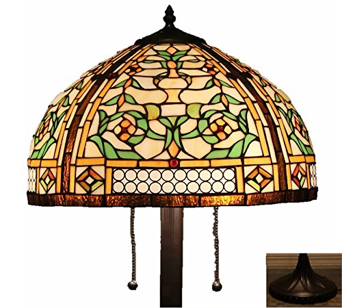 Tiffany Style Stained Glass Victorian Floor Lamp