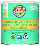 Earth's Best Organic Gentle Infant Formula with Iron, Easy To Digest Proteins, 23.2 Ounce