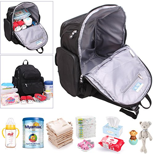 63f85fac4ccee Diaper Bag Backpack Baby Changing Pad Lightweight Large Nappy - Import It  All