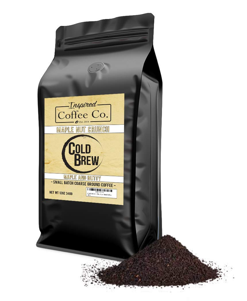 Maple Nut Crunch - Flavored Cold Brew Coffee - Inspired Coffee Co. - Coarse Ground Coffee - 12 oz. Resealable Bag