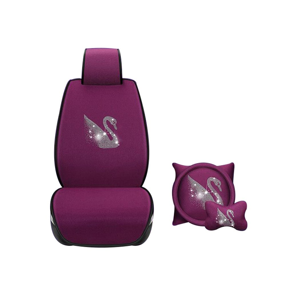 Auto Accessories New Summer Car Seat Free Ice Ice Car Seat Seat Cover Four Seasons Universal Car Accessories, Purple