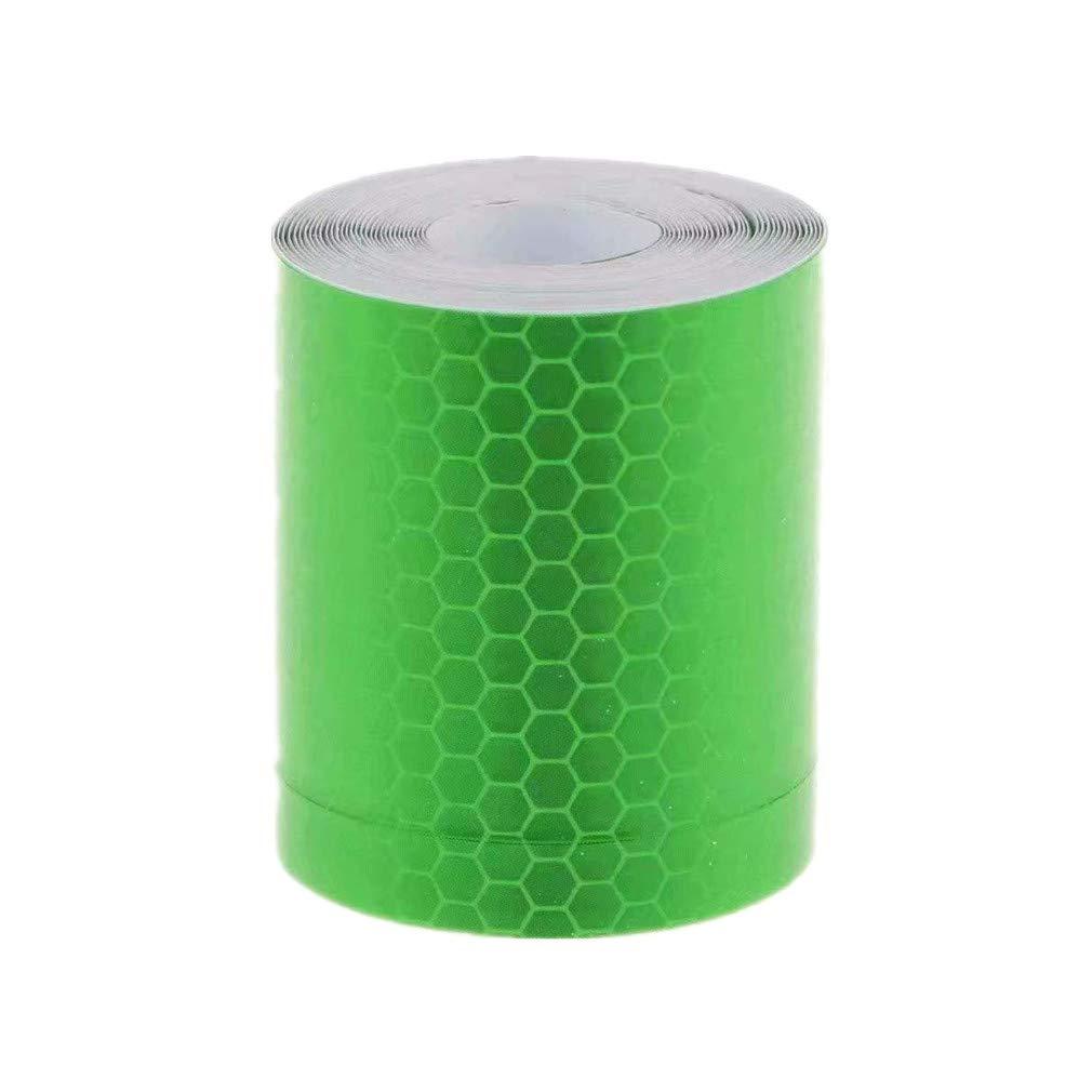 vinilo de 5 cm Waymeduo Cinta reflectante auto-stick de alta intensidad 3m
