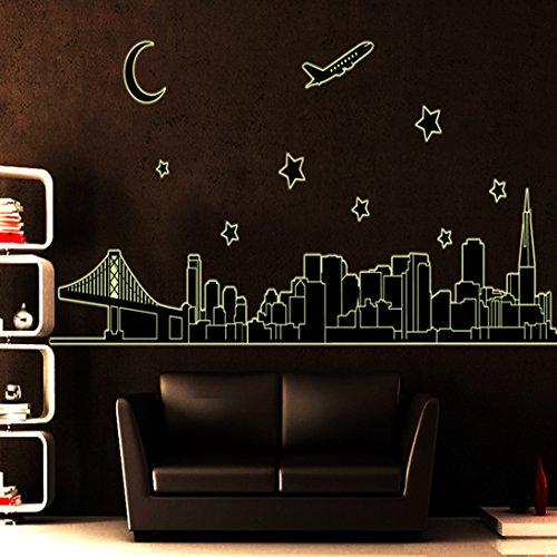 ElecMotive Cityscape Fluorescent Removable Background