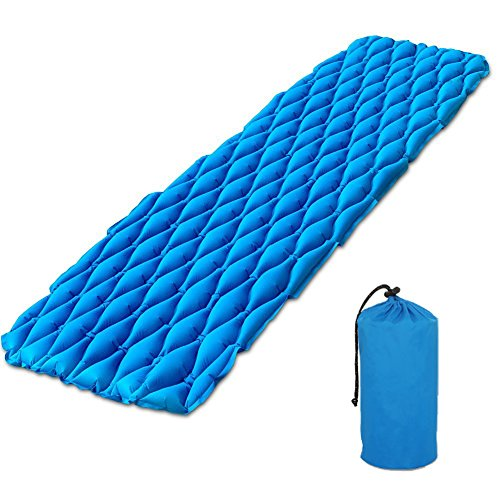 Leyic Ultralight Sleeping Pad -Inflatable Camping Mat, Super Lightweight and Comfortable Tear Resistant Pad - Ideal for Camping, Hiking, Traveling and Outdoor Activities by Leyic