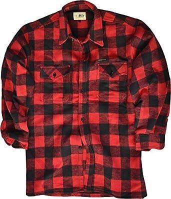 McAllister de Cuadros Camisa de Leñador Camisa Casual Camisa de Trabajo Camisa de Franela Diferentes Versiones: Amazon.es: Ropa y accesorios