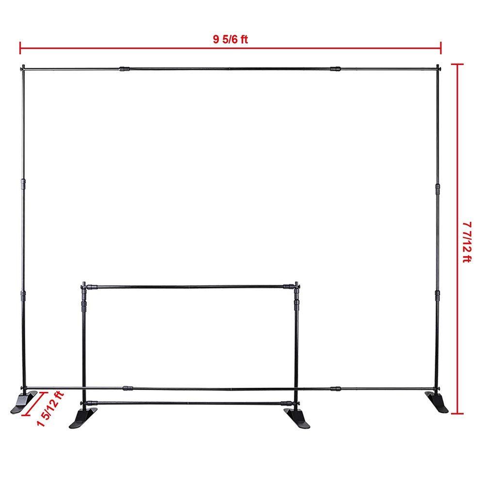 WinSpin 10 Ft Adjustable Background Banner Stand Backdrop Exhibitor Expanding Display by WinSpin (Image #7)