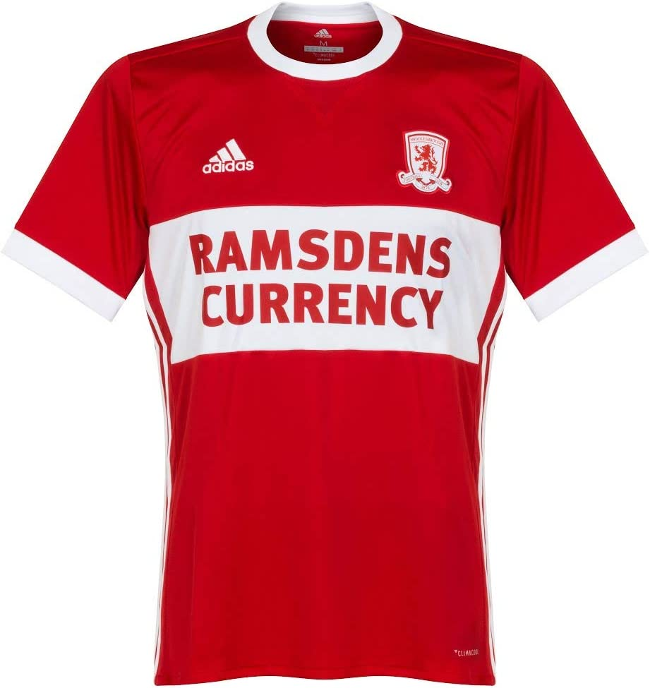 adidas 2017-2018 Middlesbrough Home Football Soccer T-Shirt ...
