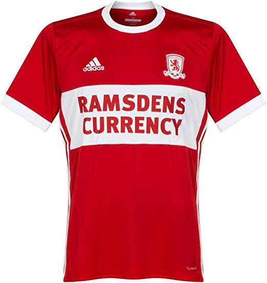 adidas 2017-2018 Middlesbrough Home Football Soccer T-Shirt Camiseta: Amazon.es: Deportes y aire libre
