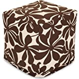 Bean Bag Cube, Multiple Colors. Functions as a chair, footstool or side table & Zippered slipcover for easy removal, Spot clean with mild detergent, hang dry. BONUS FREE E-Book (Chocolate)