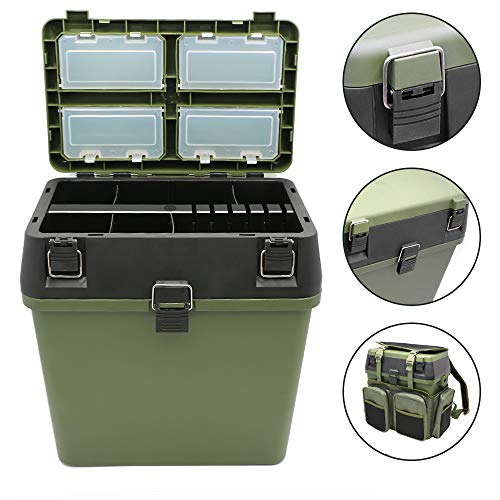 Weanas Fishing Tackle Bags, Multifunctional Large Tackle Bag Pack with Boxes - Waterproof Backpack Fishing Storage Tackle, Keeps Your Gear Organized