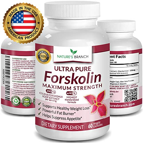 Fat Burner Reviews - ★ PREMIUM 100% ULTRA PURE Forskolin Extract For Weight Loss MAX STRENGTH w/ 40% Standardized Appetite Suppressant Fat Burner Supplement Belly Buster Fuel with Coleus Root Extract 60 Diet Pills