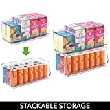 mDesign Extra Large Household Stackable Plastic