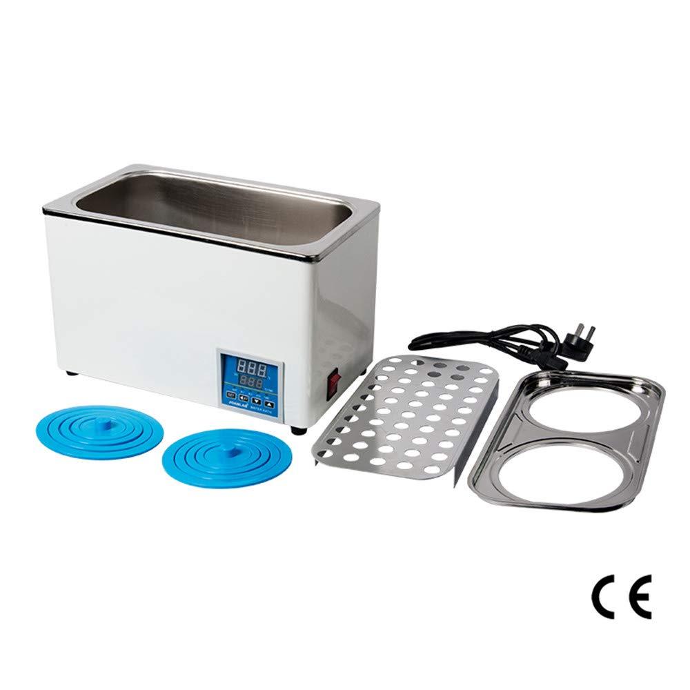 TOPQSC Doble Agujero Ba/ño de Agua de Laboratorio Digital El/éctrico Calentado Caldera Termost/ática de Ba/ño de Agua Laboratorio Ba/ño de Agua con Funci/ón de Tiempo RT a 99 ℃ 220V