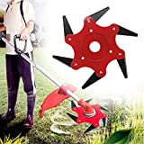 Boomway Trimmer Head 6 Steel Blades Razors 65Mn Trimmer Blade Replacement for Garden Grass Brush Cutter Weed Eater Lawnmower