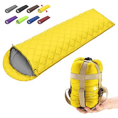 ECOOPRO Camping Sleeping Bag, 3 Season Sleeping Bag for Kids, Teens, Adults Indoor & Outdoor Use - Waterproof, Lightweight, Compact Sleeping Bag Great for Camping, Backpacking Hiking