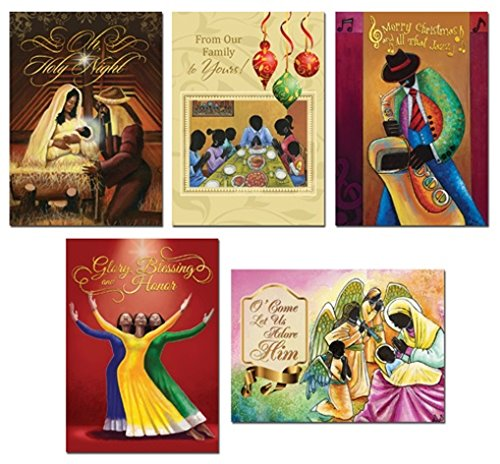 [African American Christmas Card Assortment Box] (African American Stationery)