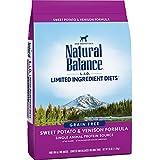 Natural Balance L.I.D. Limited Ingredient Diets Dry Dog Food, Grain Free, Sweet Potato & Venison Formula, 26-Pound