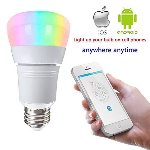 lakes led smart wifi light bulb 7w 60w incandescent equivalent rgb multicolor works with. Black Bedroom Furniture Sets. Home Design Ideas