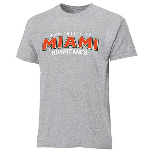 NCAA Miami Hurricanes Mens Diamond Plate Short Sleeve Tee, X-Large, Oxford