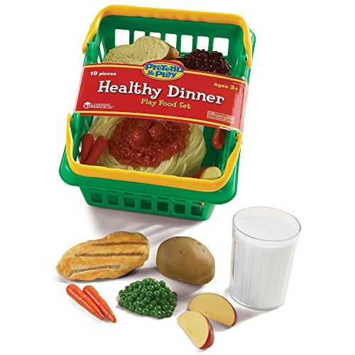 Dinner Play Foods Basket (Learning Resources Healthy Dinner Basket)