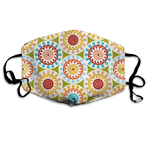 Geometric Nugget - Hateone Unisex Unique Mouth Mask - Cute Geometric Floral Kaleidoscope Polyester Anti-dust Masks - Fashion Washed Reusable Face Mask for Outdoor Cycling