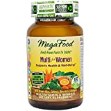 MegaFood - Multi for Women, Multivitamin Support for Energy Production, Hormone Balance, Bone Health, and Brain Function with Methylated Folate and Iron, Vegetarian, Gluten-Free, Non-GMO, 60 Tablets