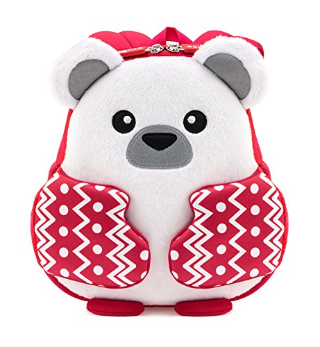 Tom Clovers Lightweight 3D Cute Bear Christmas Cartoon School Bag with Hand Warm Gloves Kids Backpack Pre School Children - Clover Footwear