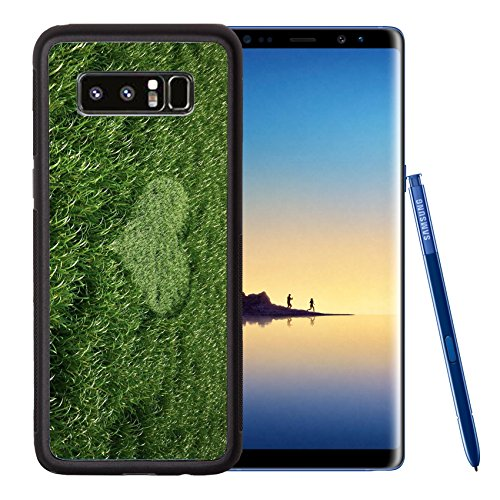 Liili Premium Samsung Galaxy Note8 Aluminum Backplate Bumper Snap Case IMAGE ID: 11779722 Grass meadow bird eye view with a heart shape cut grass in the middle (Birdseye View Business)