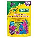 GUM Crayola Kids Flosser Picks, 40 count