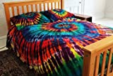 Extreme Rainbow Tie-Dye - 100% Cotton Duvet Cover Set by Brightside - Full/Queen
