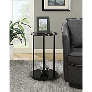 Convenience Concepts Designs2Go 2-Tier Round End Table
