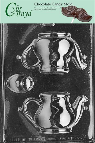 (Cybrtrayd Life of the Party D077 Tea Pot Chocolate Candy Mold in Sealed Protective Poly Bag Imprinted with Copyrighted Cybrtrayd Molding Instructions)