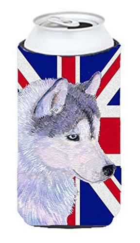 Caroline's Treasures Siberian Husky with English Union Ja...