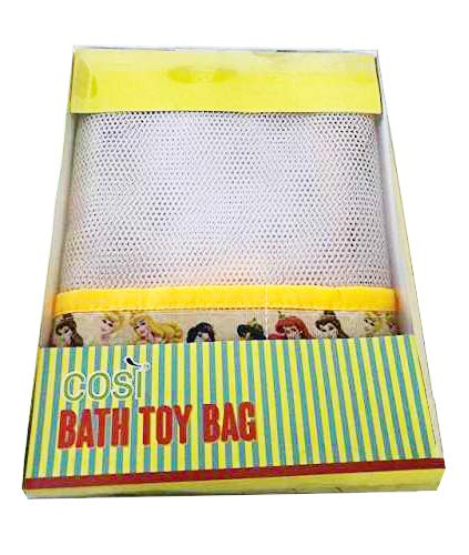(White/Blue Dots) - Bath Toy Organiser Mesh Net Toy Storage Bag For Baby Boys Girls With Two Suction Cups Exclusively Designed by HelenCasa (White/Blue Dots)  White/Blue Dots B071RCNKK6