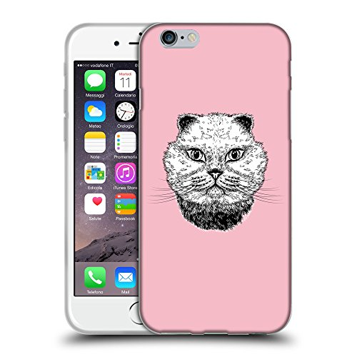"GoGoMobile Coque de Protection TPU Silicone Case pour // Q05220630 gros chat Rose // Apple iPhone 6 PLUS 5.5"""