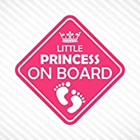 Little Princess On Board Vinyl Decal Bumper Sticker Baby Girl Sticker Car Truck Van Window Sticker Self Adhesive Vinyl…