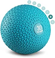 Yes4All Slam Balls (Black, Blue, Teal, Orange & Glossy) 10-40lbs for Strength and Crossfit Workout – Slam