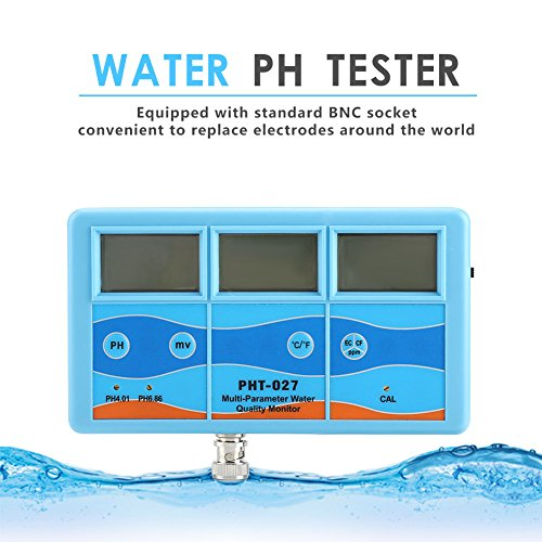 Water Tester - Multi-Function Ph Tester Water Monitor Orp Ec Cf Tds Temperature Meter (110v, Us Plug) by OKBY (Image #8)