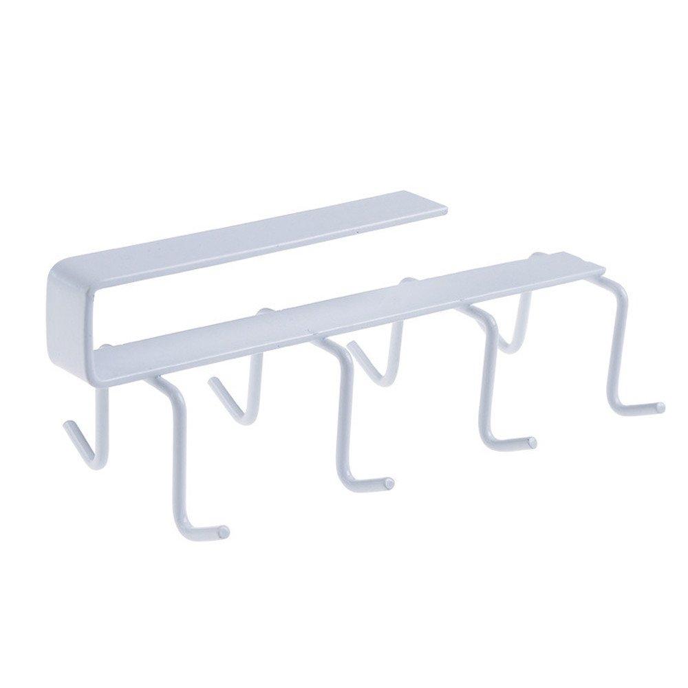 Porte-Tasses /à 8 Crochets de Cuisine Verres de Rangement Armoire /à Suspendre Support de Stockage
