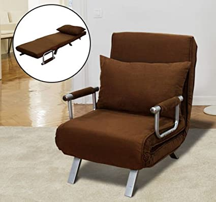 Convertible Sofa Bed Lounge Folding Arm Chair Recliner Single Sleeper Folding Dorm Living Room Couch & Amazon.com: Convertible Sofa Bed Lounge Folding Arm Chair Recliner ...