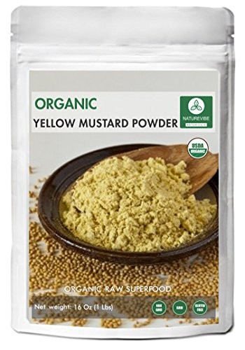 Yellow Mustard Seed Powder, 1 Pound - 100% Pure, Natural & USDA Organic Certified