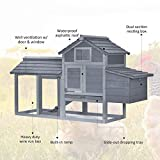 """PawHut 59"""" Small Solid Wood Enclosed Outdoor"""
