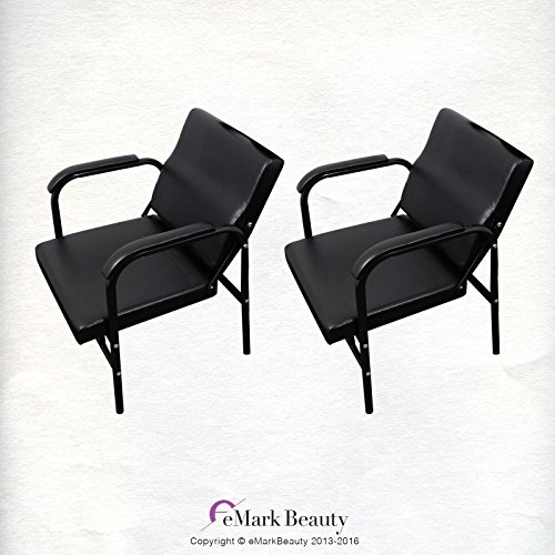 2 Shampoo Chairs Auto Reclining Barber Hair Styling Salon Spa TLC-216A2 by eMark Beauty