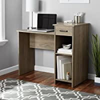 Stylish & Affordable Student Computer Homework Desk, Great for Dorms or Apartments, Features Drawer, Adjustable & Fixed Shelf, Great Assortment of Multiple Finishes & Colors! (Rustic Oak)