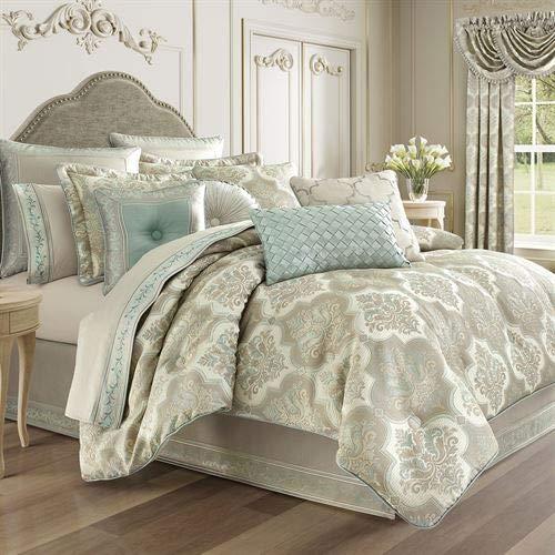 J Queen New York, Inc. Genevieve Comforter Set Aqua Mist