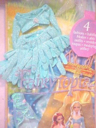 Fairytopia Set (Fairytopia Outfits Set of 4 Fashions Blue and Gold 2 for the Fairies and 2 for the Pixies)