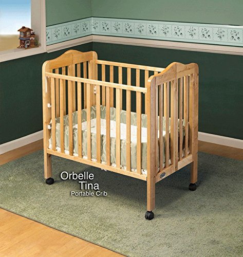 Orbelle Trading Tina Three Level Portable Crib, Natural