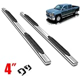 """Scitoo 2Pcs 4""""inch Polished Stainless Steel Bull Bar Front Bumper Grill Guard For 1999-2016 Ford F250 / 350 / 450 / 550HD Superduty With Skid Plate"""